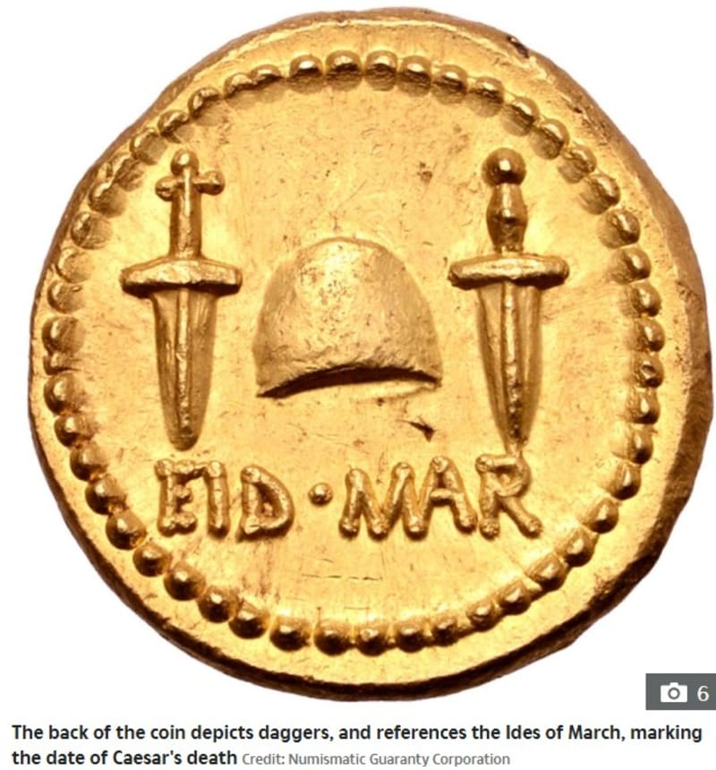 Rare Gold Coin Of Julius Caesar's Assasination Resurfaces After 2000 Years