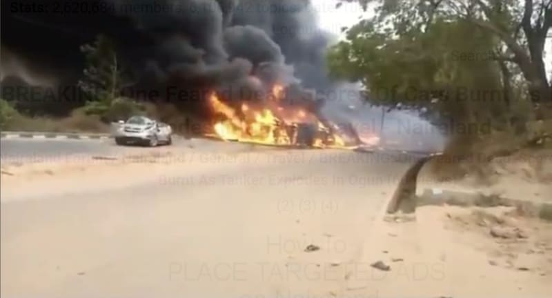 One Feared Dead, Cars Burnt As Tanker Explodes In Abeokuta