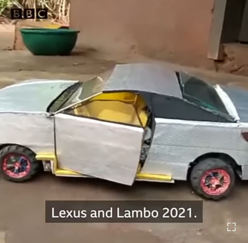 Talented 15-Year-Old Nigerian Boy Designs Working Models Of Luxury Cars (Video)