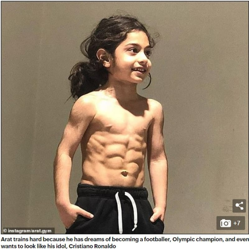6-Year-Old Iranian Boy With Six-Pack Now Has 4 Million IG Followers