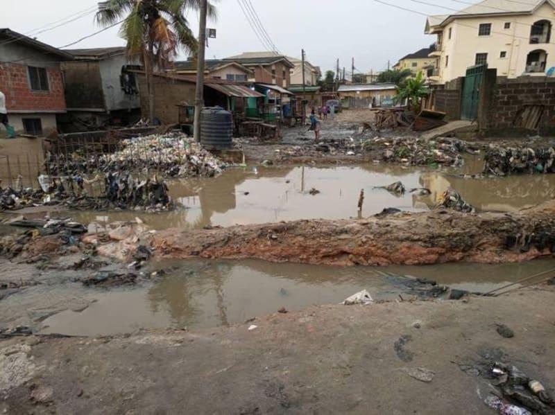 Poor State Of A Street In Ketu, Lagos That Swallowed Two Kids