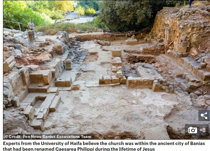 Lost Church 'Where Jesus Healed A Bleeding Woman' Unearthed In Caesarea Philippi
