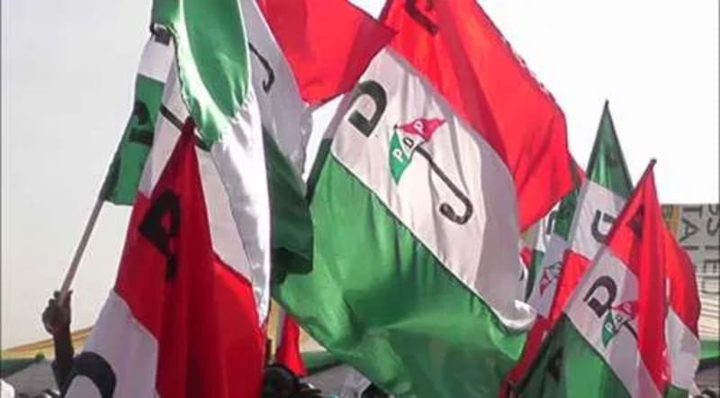 PDP Flags Removed From Imo Government House After Supreme Court Judgement