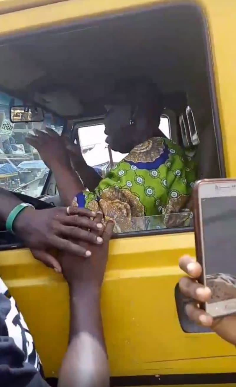 Woman Hijacks Commercial Bus From Lagos Driver (Video)