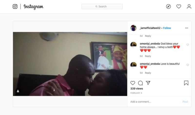 Infinix Rewards Man Who Kissed His Wife, N300k For Valentine (Video)