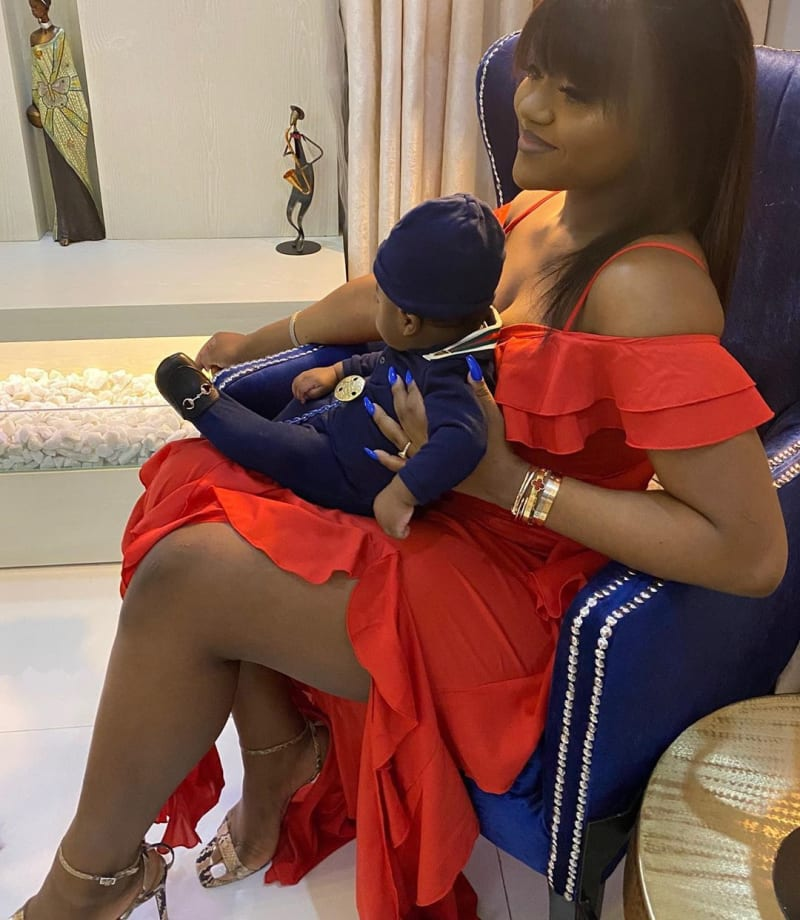 I Need A New Car - Davido Shows Off His Bentley And Son, Ifeanyi