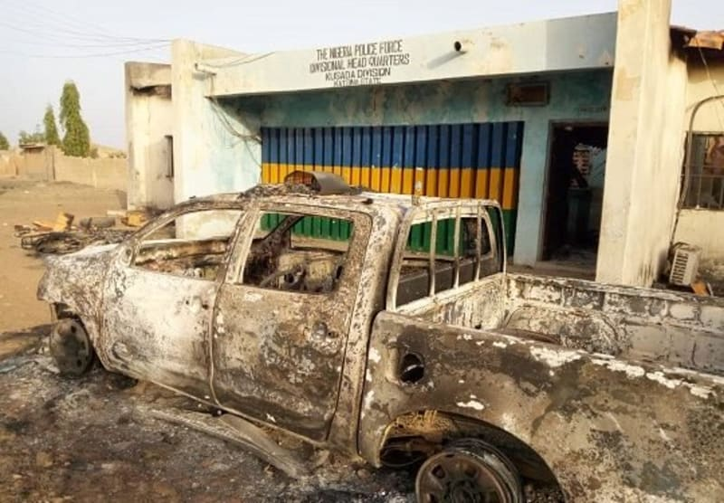 COVID-19: Muslim Youths Burn Police Station In Katsina For Stopping Their Prayer