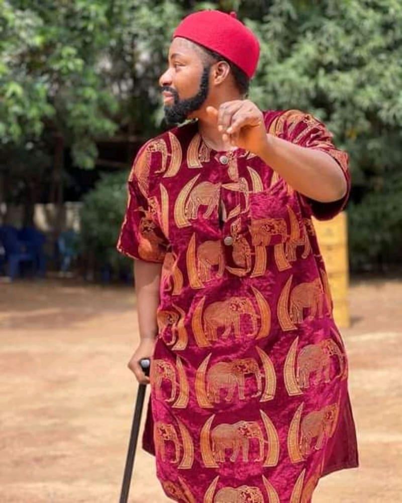 Destiny Etiko's Makeover Transformation To A Man In Traditional Igbo Attire