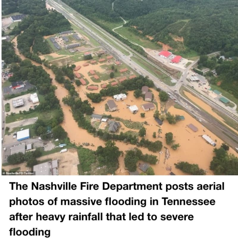 Tennessee Floods: 15, Including Twin Toddlers, Killed; More Than 30 Missing