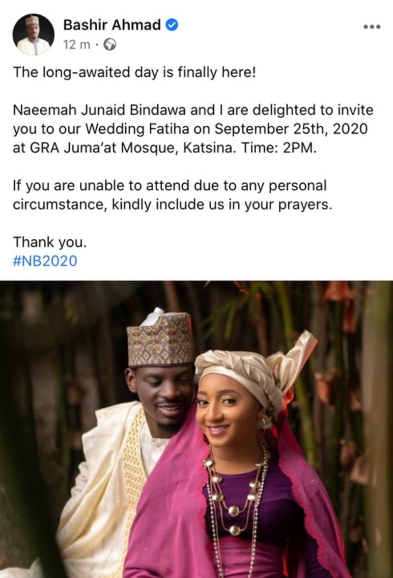 Bashir Ahmed Announces Wedding