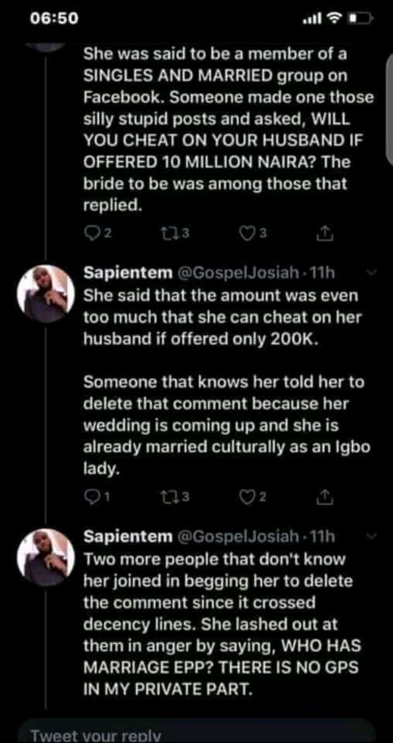 How A Facebook Comment Crashed A Lady's Marriage