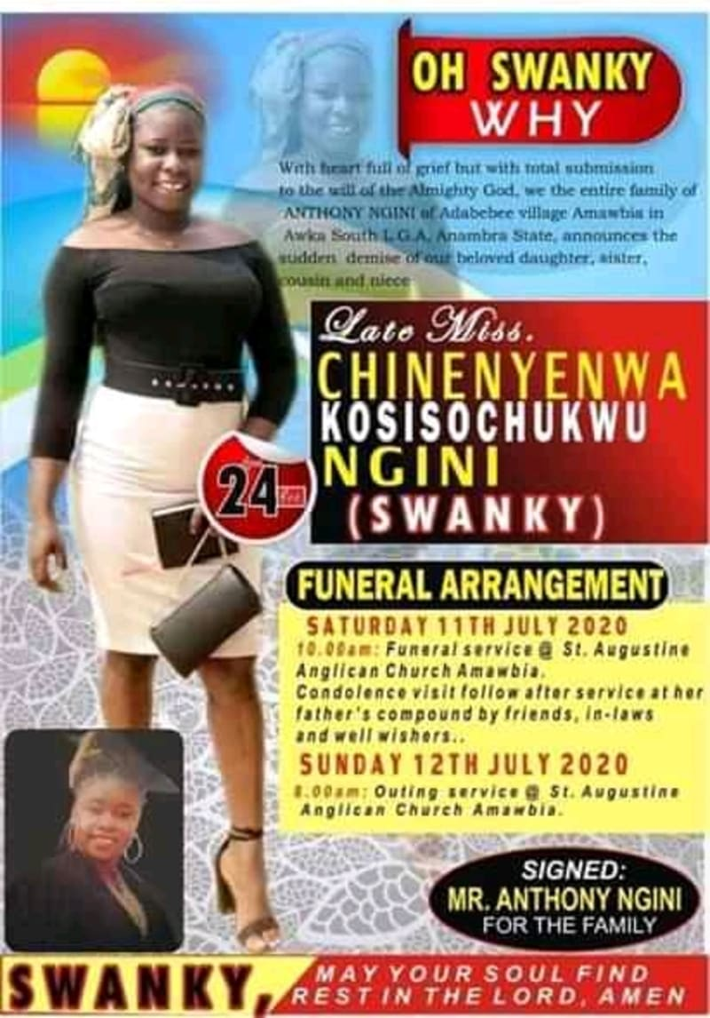 Obituary Of Lady 'Swanky' Killed By Gas Explosion (Graphic Photos)