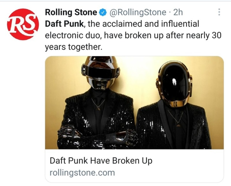 Daft Punk Splits After 28 Years