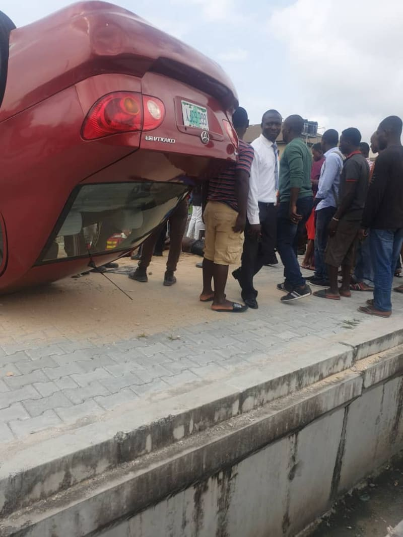 car wash staff suffers accident in lekki with client's car
