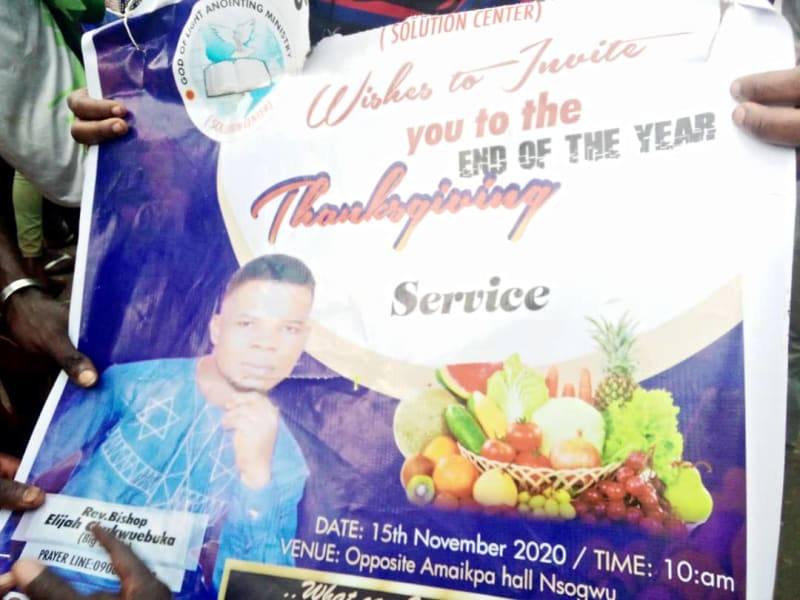 Pastor Caught With Human Head, Charms Inside His Church (Photos, Video)