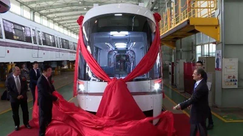 China's CRRC Unveils Israel-bound Light Rail Train