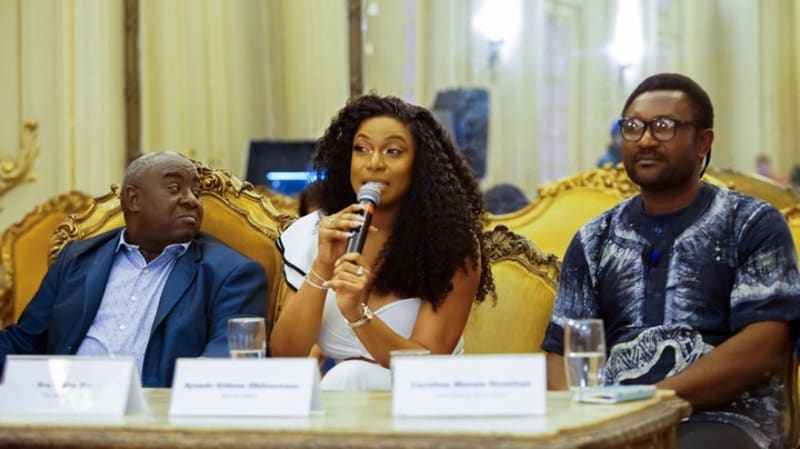 actress chika ike speaks at nigerian independence event in brazil