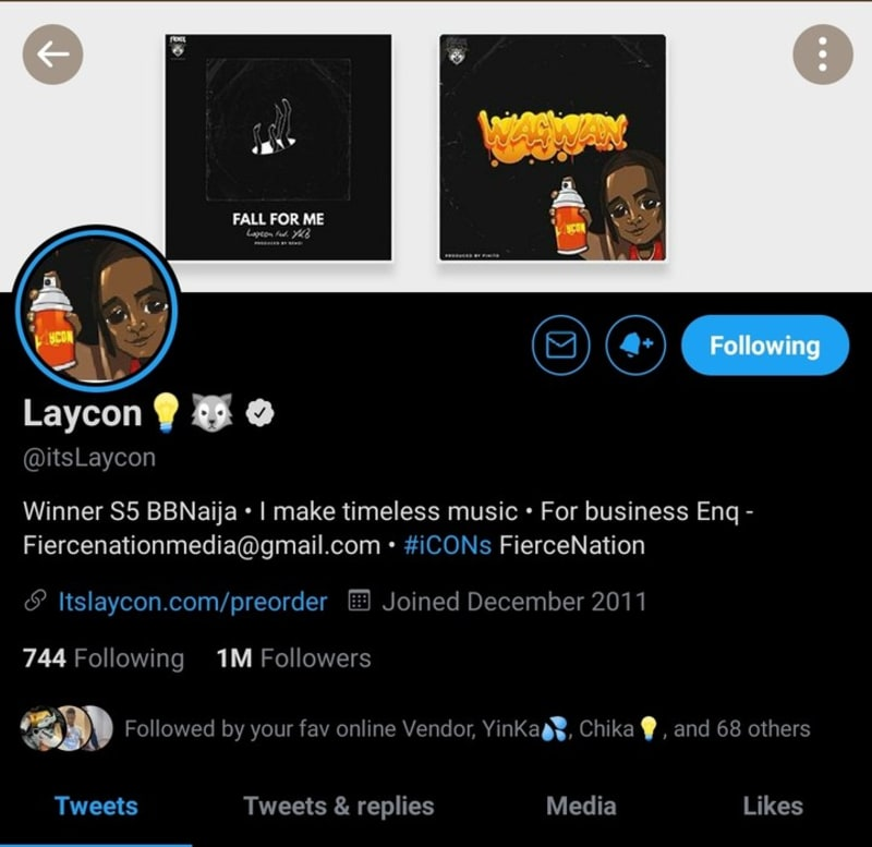Laycon To Release 2 Singles 'Wagwan' & 'Fall For Me'; Clocks 1M Twitter Follower