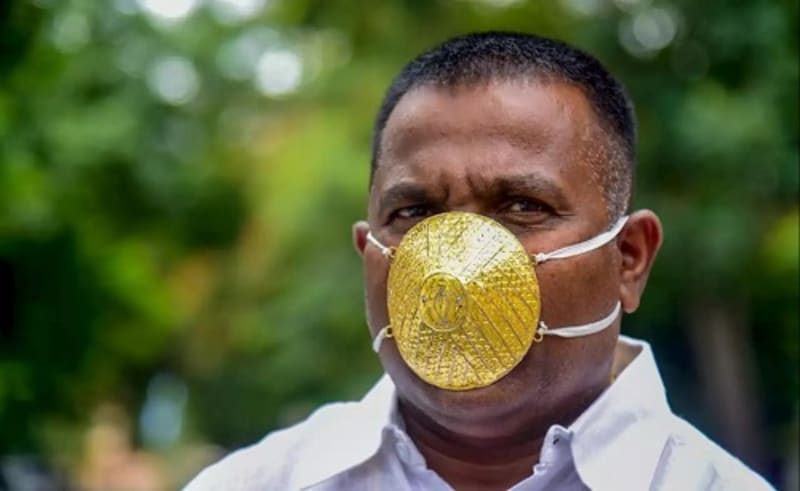 Indian Man Buys $4000 Gold Face Mask. Goes Viral (Video)