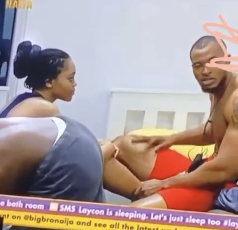 BBNaija 2020: Lilo Caught On Camera Trying  To Size Up Eric's Joystick With Her