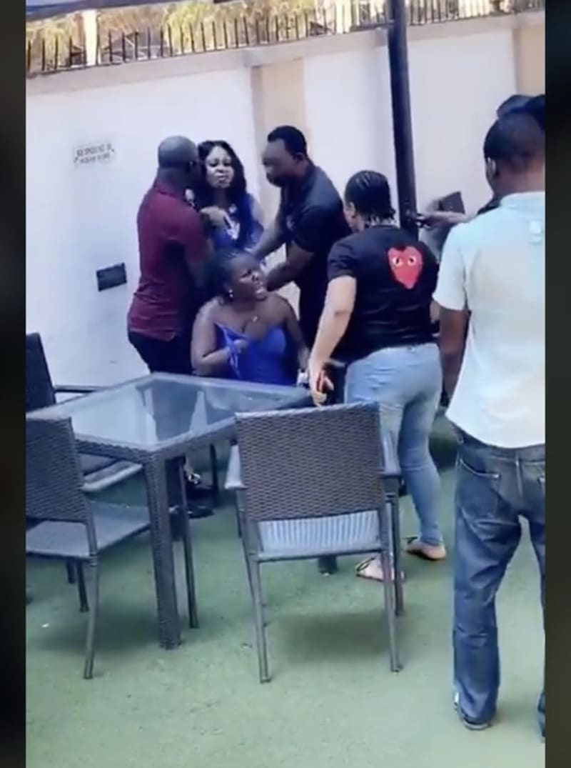 Angry Wife Confronts Her Hubby And His Side Chick At A Hotel (Video)