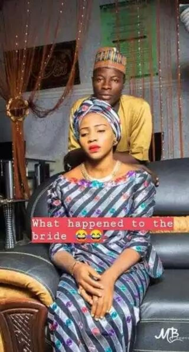 Bride Looks Very Angry In Her Pre-Wedding Photos
