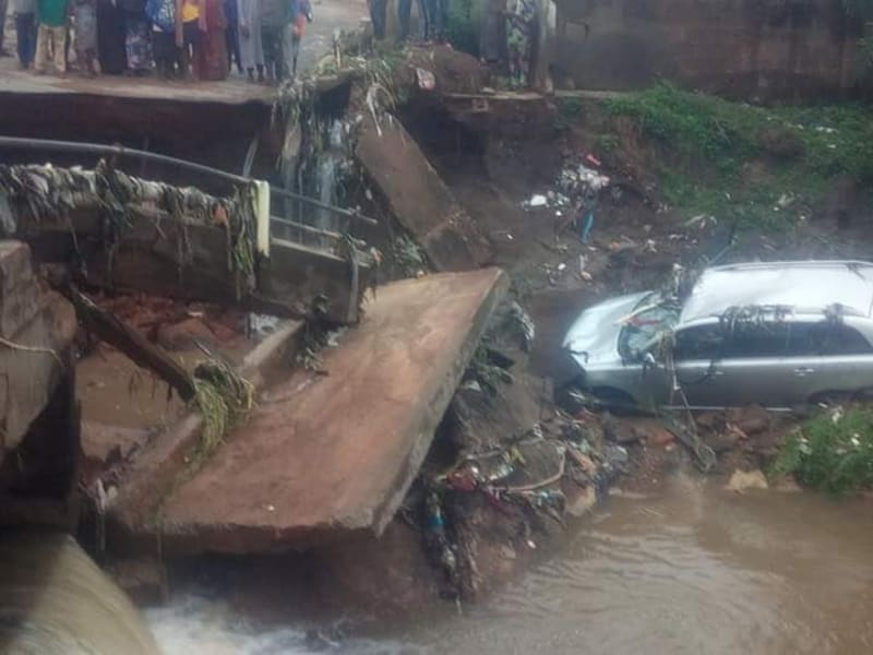 Bridge Collapsed After Heavy Rainfall, One Person Confirmed Dead