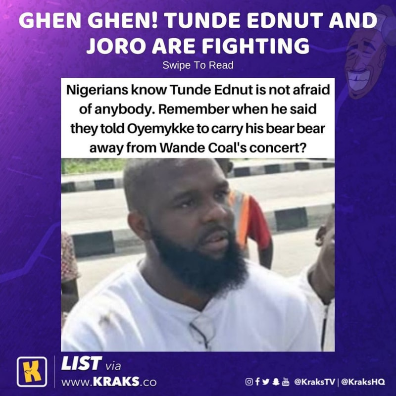 Tunde Ednut And Joro Olumofin Are Fighting - Checkout Hilarious Meme Collection
