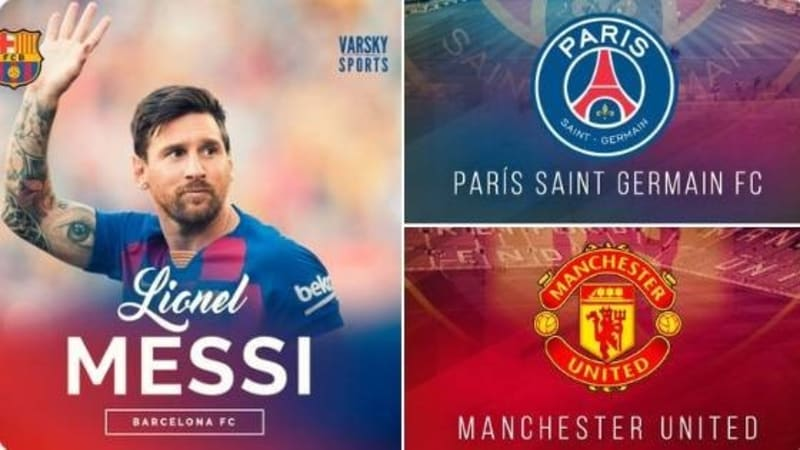 PSG & Man UTD Willing To Offer €120m Plus 1-2 Players For Messi If He Leaves Barca