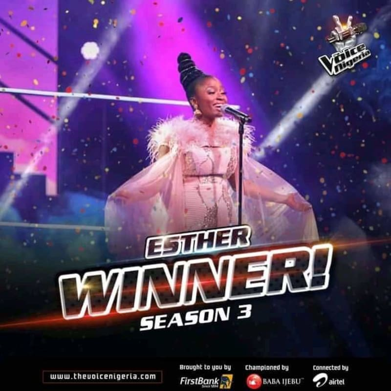 Esther Benyeogo Emerges Winner Of The Voice Nigeria 2021