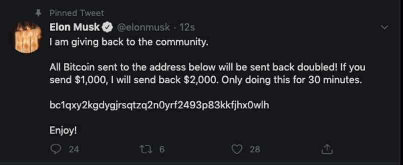 High Profile Twitter Accounts Hacked By Bitcoin Scammers