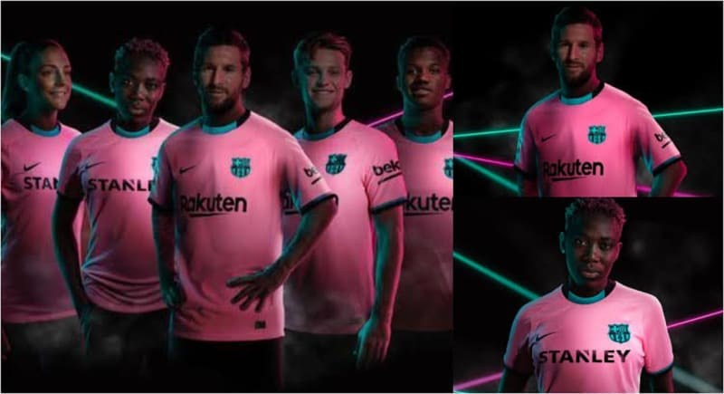Oshoala, Messi, Fati Model Barcelona's Third Kit Ahead Of New Season