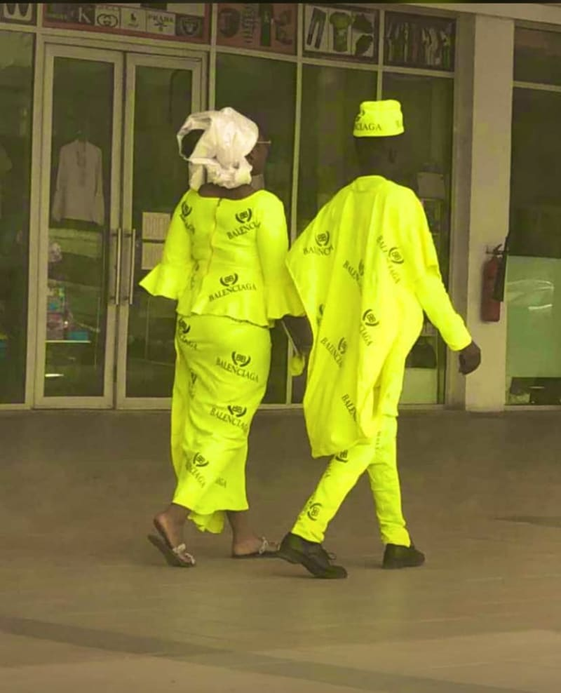Nigerian Couple Storms Ilorin Mall Rocking Balenciaga Native Attire (Video)