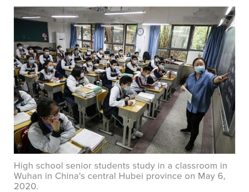 Covid-19: This Is What Back-To-School Looks Like For Students In Wuhan, China