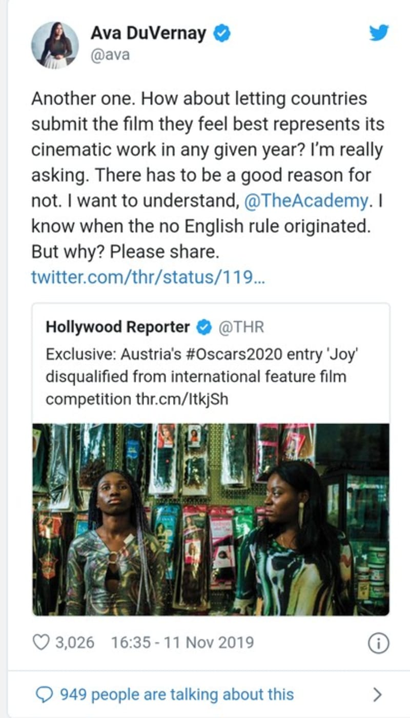Another Nigerian Film Disqualified From Oscars Because Of Too Much English