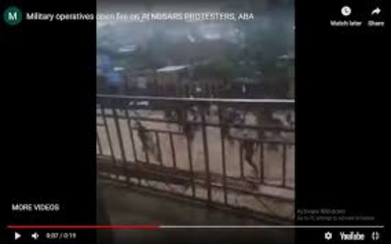 #EndSARS: Gunshots As Protesters Launch Counter-Attack On Soldiers In Aba (Video)