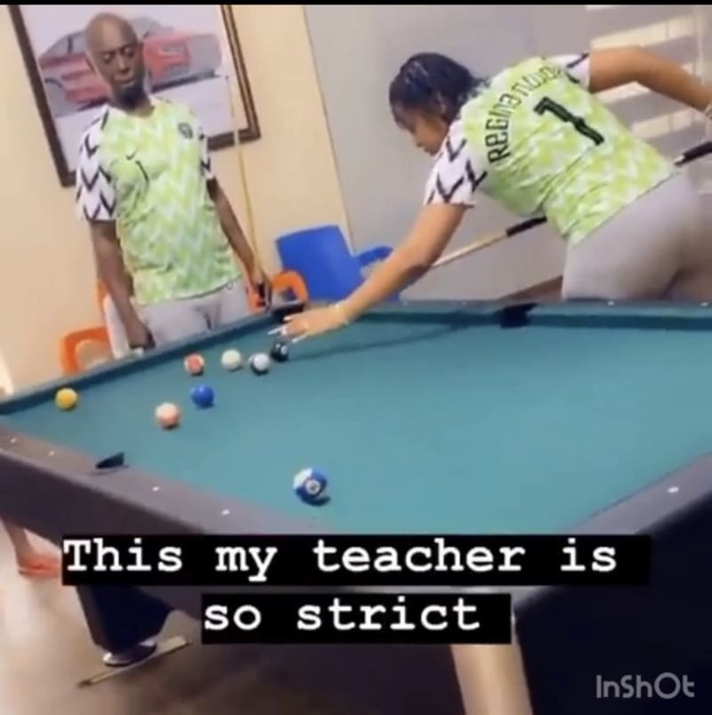 Regina Daniels And Ned Nwoko Play Pool In Matching Outfits (Video)