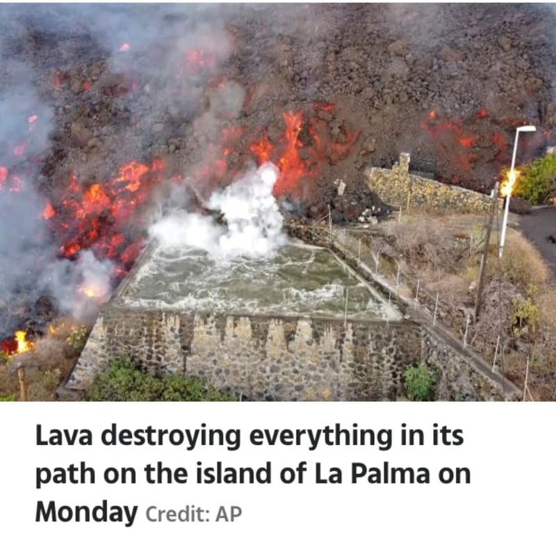 La Palma: Families Given 1hr To Escape Before Toxic Gas Bomb Explodes (Video)