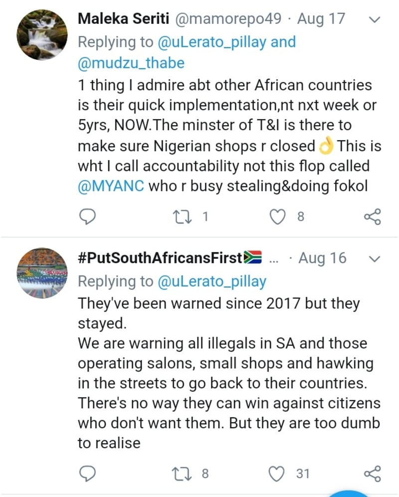South Africans React To Ghana Closing Nigerian Shops