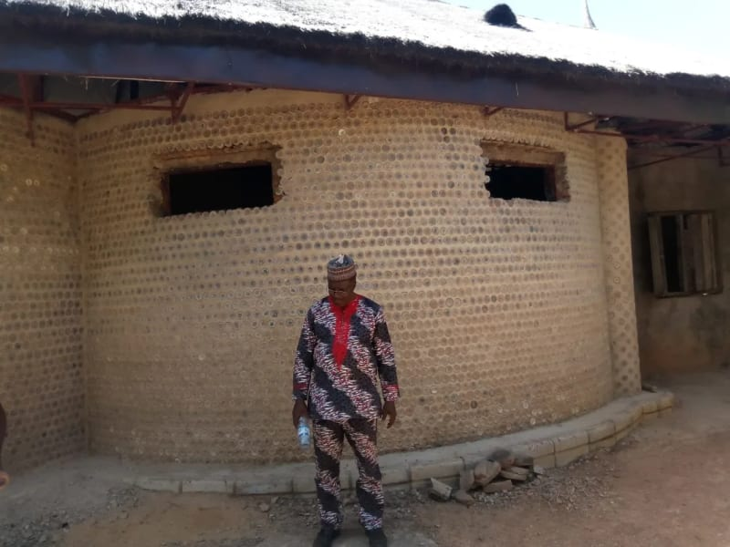 Man Builds House With 14,800 Plastic Bottles
