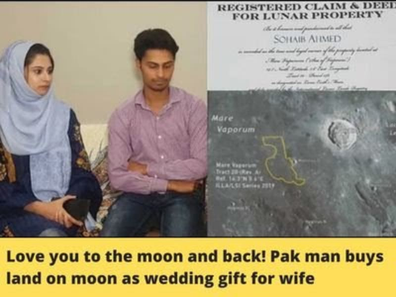 Pakistani Man Buys Land On Moon As Wedding Gift For His Wife