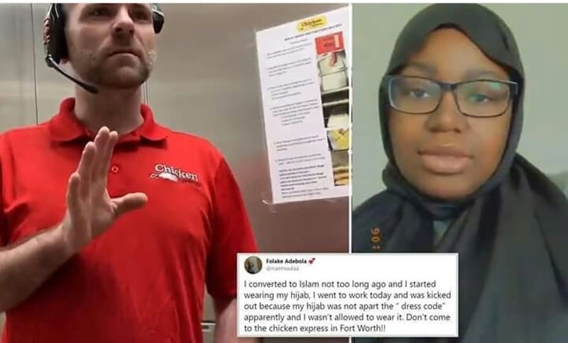 Nigerian Lady Sent Home From Work In US For Wearing Hijab