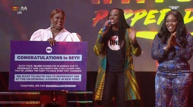 bbnaija: seyi wins health advocacy challenge