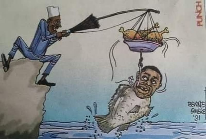Femi Fani-Kayode Cartoon Image By Punch Reposted By Reno Omokri