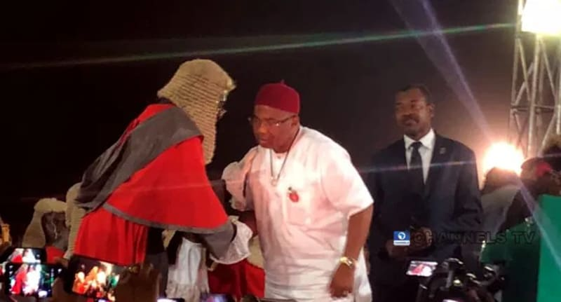 Father Mbaka Attends Hope Uzodinma's Swearing-In Ceremony