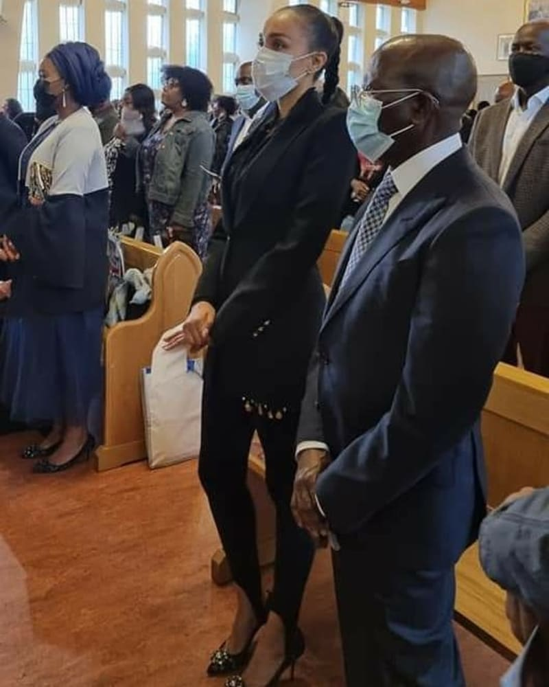 Photos Of Oshiomhole & His Wife, Iara As They Step Out Together In The UK