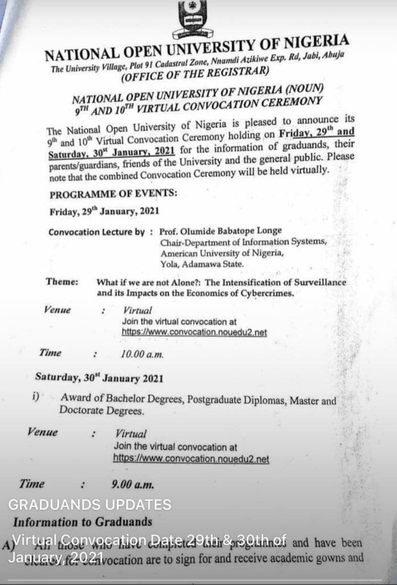 University Asks Graduands To Pay N15K For Gown For Convo To Be Held Virtually