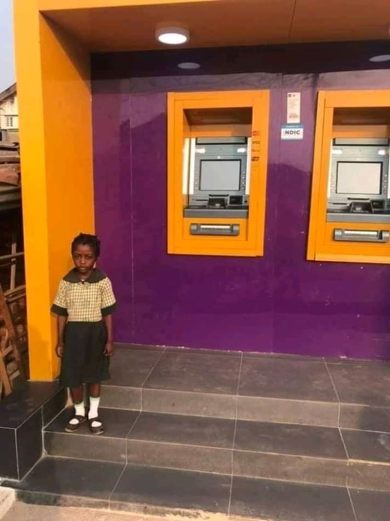 FCMB Locates Little Girl That Used Their ATM Light For Assignment