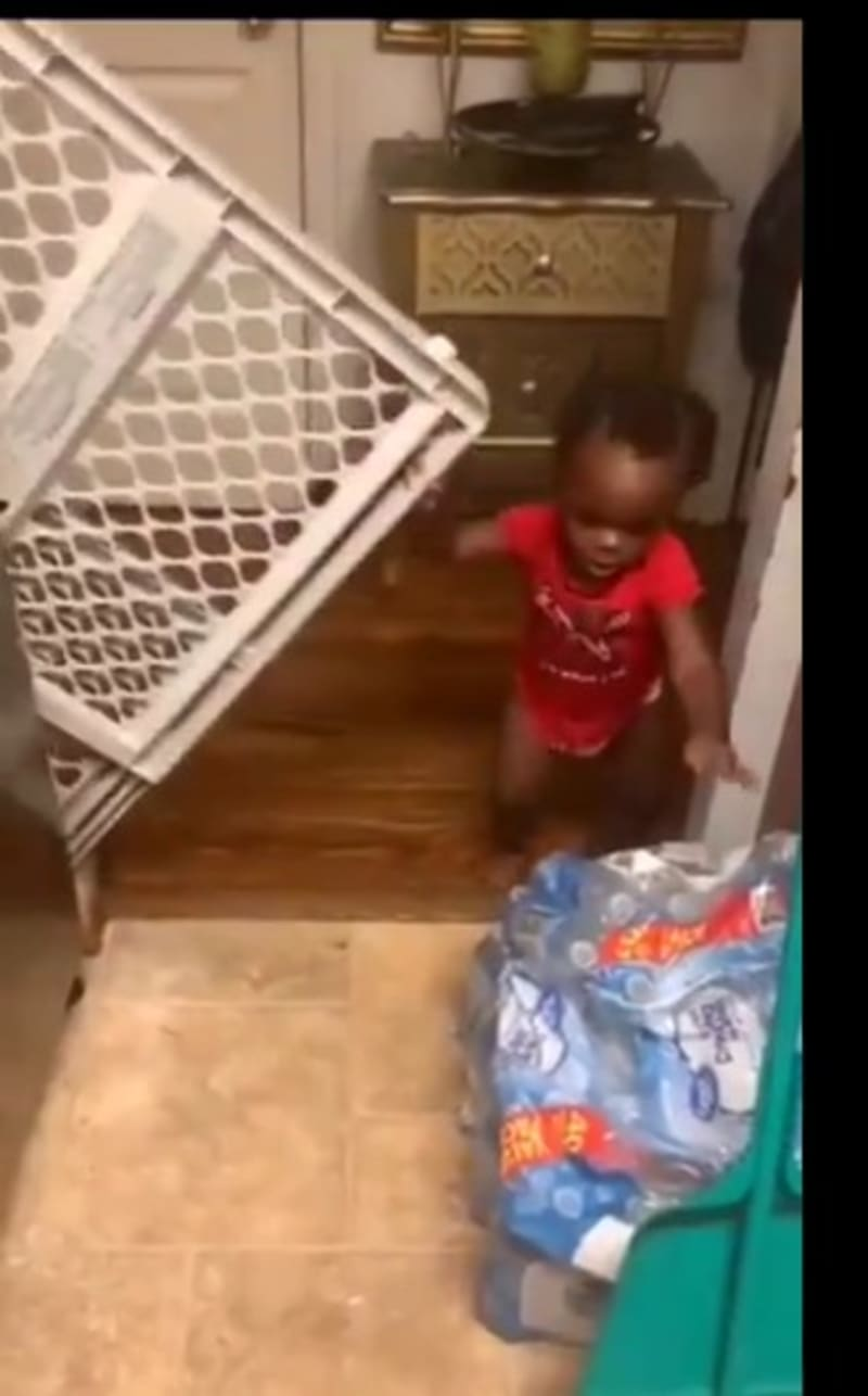 Woman Bought A Gate To Shut Her Baby Out Of Her Kitchen, The Baby Did This