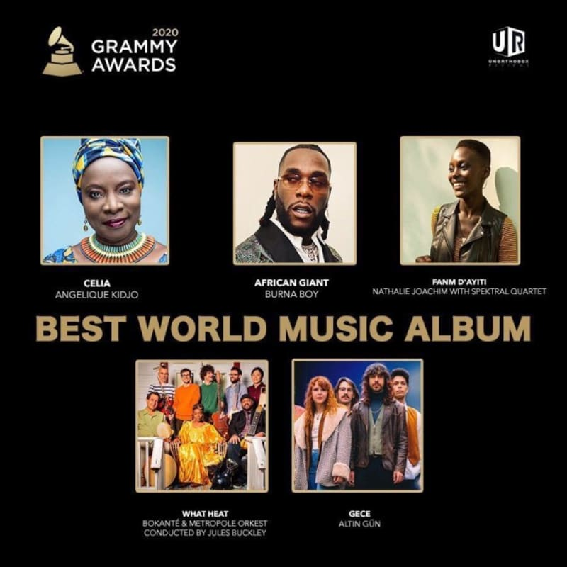 Angelique Kidjo Dedicates Her 2020 Grammy Award To Burna Boy (Video)
